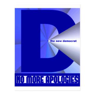 No más de disculpas - nuevo Demócrata Postales