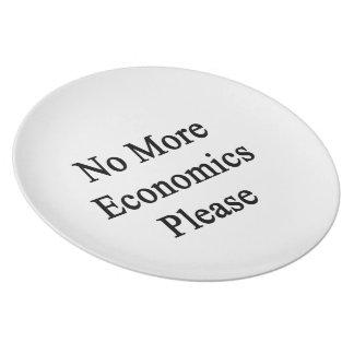 No más de economía por favor plato de cena