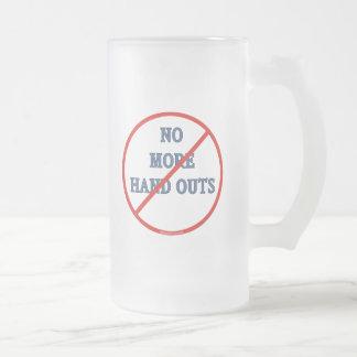 No más de folletos taza de cristal