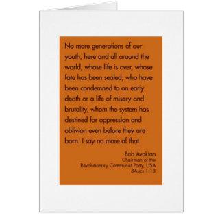 no más de generaciones de nuestra juventud tarjeta de felicitación