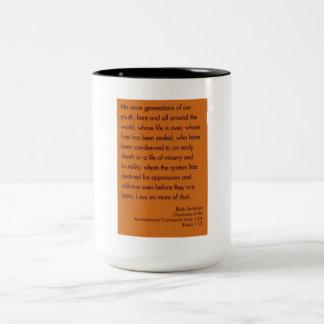 No más de generaciones de nuestra juventud taza de café de dos colores
