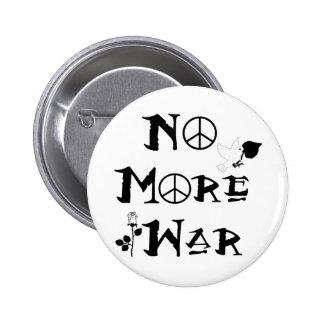 No más de guerra pin