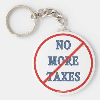 No más de impuestos llavero redondo tipo pin