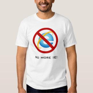 No más de Internet Explorer (texto adaptable) Remeras