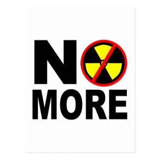 No más de lema antinuclear de la protesta tarjeta postal