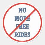 No más de pases gratises pegatinas redondas
