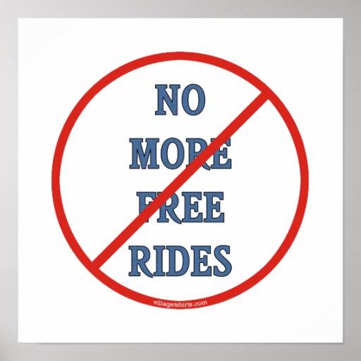No más de pases gratises posters