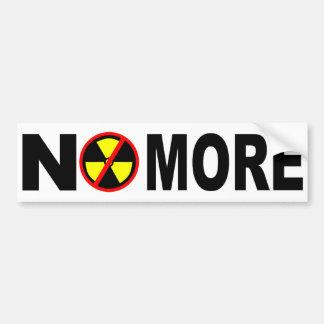 No más de pegatina para el parachoques nuclear pegatina para auto