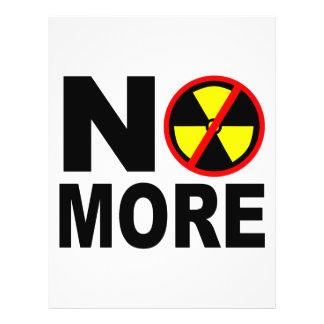 No más de plantilla nuclear anti del aviador flyer a todo color