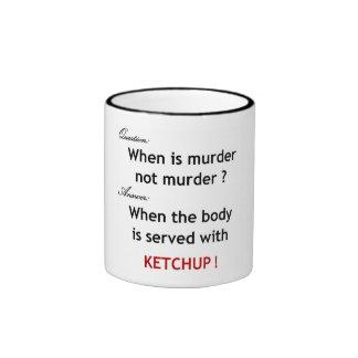 ¡No más de salsa de tomate! Taza