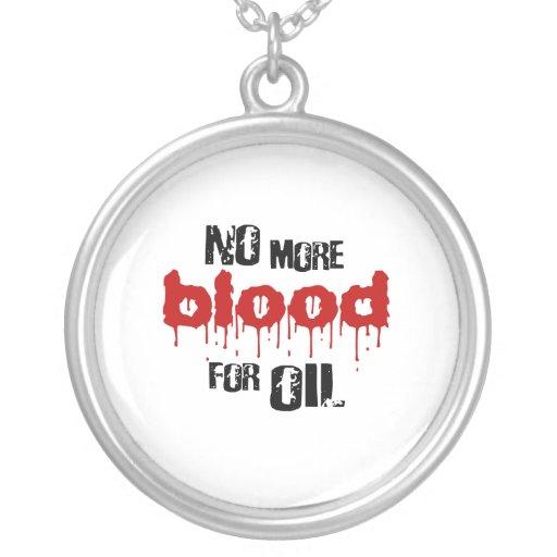 No más de sangre para el aceite collares