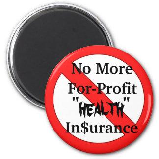 No más de seguro médico del Para-Beneficio Imán Redondo 5 Cm