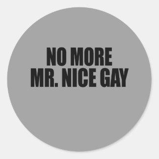 NO MÁS DE SR. NICE GAY PEGATINA REDONDA
