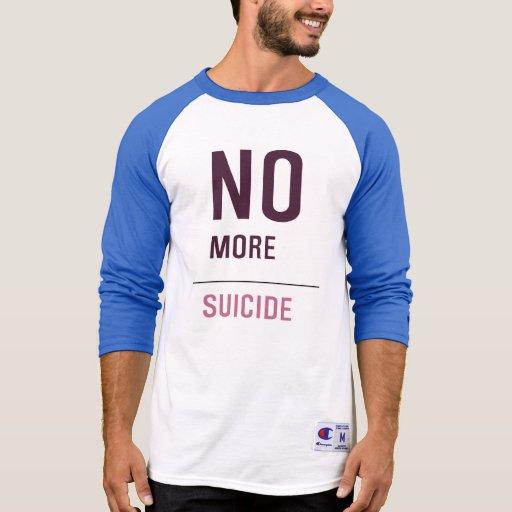 NO MÁS DE SUICIDIO CAMISETA