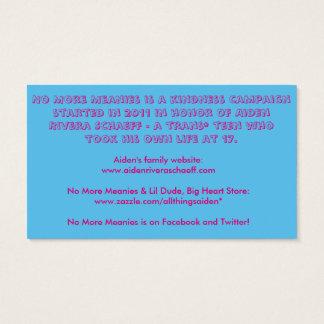 No más de tarjetas de los Meanies (transexual) Tarjetas De Visita
