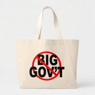 No más de tote grande del gobierno bolsa tela grande