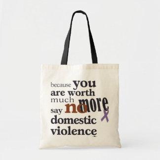 No más de violencia en el hogar bolsa