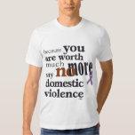 No más de violencia en el hogar playeras