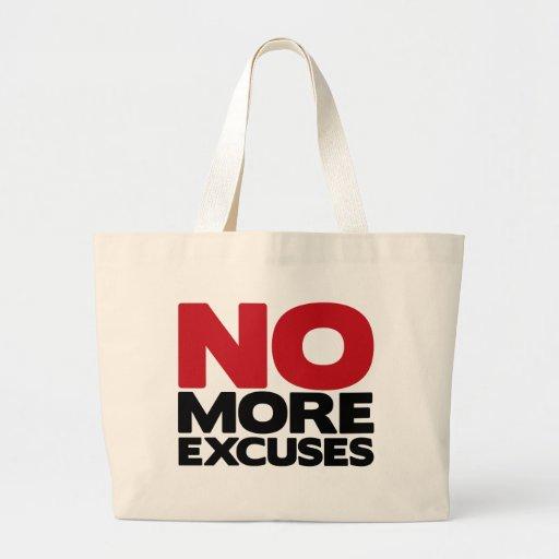 No más excusas bolsa tela grande