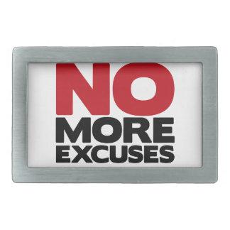 No más excusas hebilla cinturon rectangular