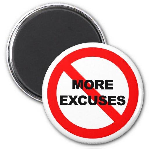 No más excusas - imán