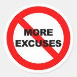 No más excusas - pegatina