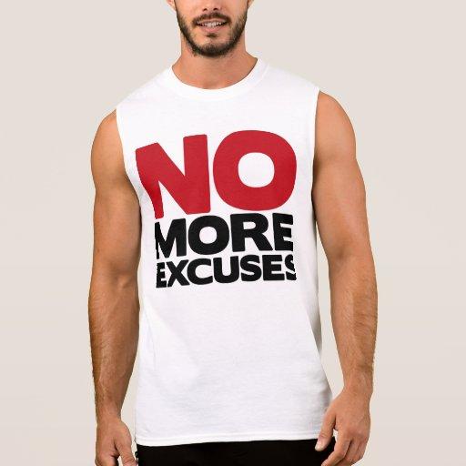 No más excusas camisetas sin mangas