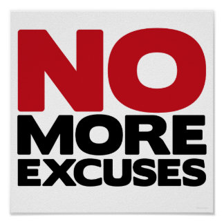 No más excusas póster