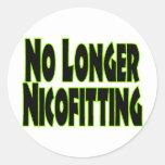 No más Nicofitting Etiqueta Redonda