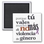 No Más Violencia de Género Imán Cuadrado