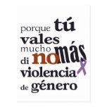 No Más Violencia de Género Tarjetas Postales