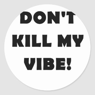 No mate a mi ambiente etiquetas redondas