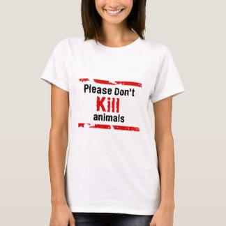 No mate por favor a los animales playera