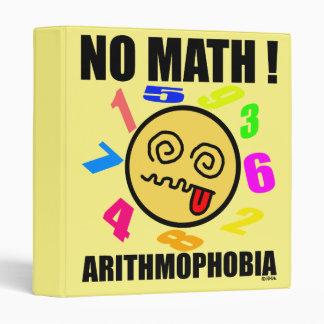 No math! Arithmophobia 3 Ring Binder