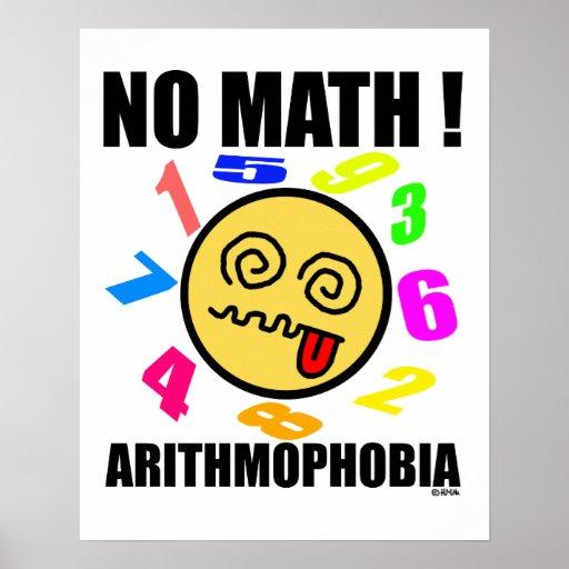 No math ! Arithmophobia Print