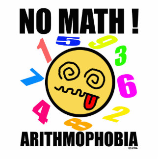 No math ! Arithmophobia Statuette
