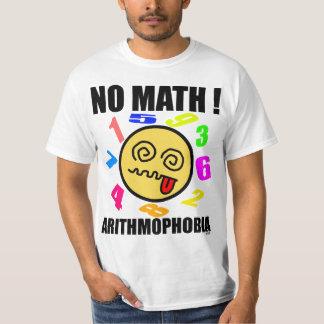 No math ! Arithmophobia T-Shirt
