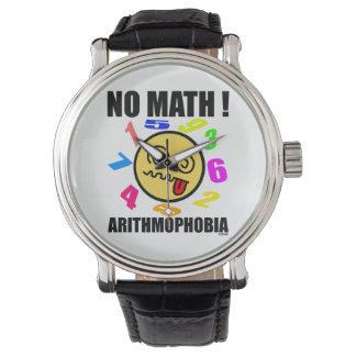 No math! Arithmophobia Wrist Watch