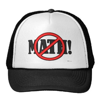 No Math Zone... (funny) Trucker Hat