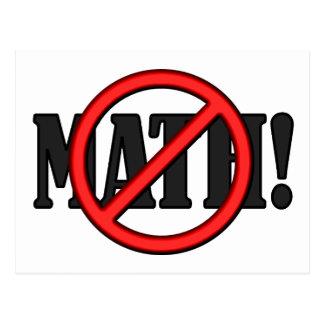 No Math Zone... (funny) Postcard