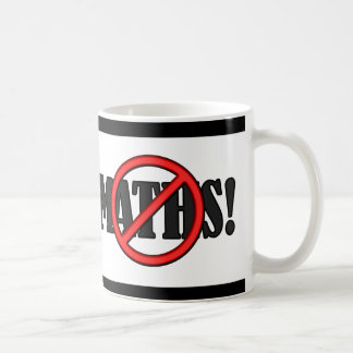 No Maths Zone... (funny) Classic White Coffee Mug