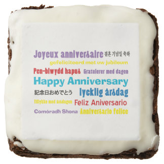 No Matter How You Say It Anniversary Brownie