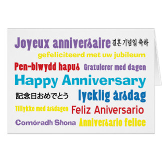 No Matter How You Say It Anniversary  Card