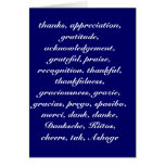 NO MATTER HOW YOU SAY THANK YOU GREETING CARD