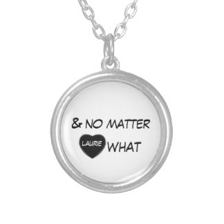 no matter what love heart men's necklace