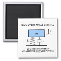 No Matter What You Say You Cannot Dampen Physics Refrigerator Magnets