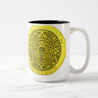 No Mayan Knows The Day Nor The Hour Two-Tone Coffee Mug