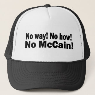 no mcain trucker hat