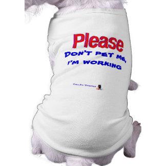 No me acaricie por favor playera sin mangas para perro