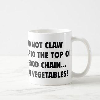 No me agarré al top de la cadena alimentaria taza clásica